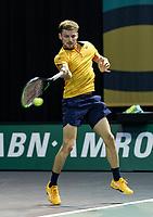 Rotterdam, The Netherlands, 3 march  2021, ABNAMRO World Tennis Tournament, Ahoy, First round match: David Goffin (BEL).<br /> Photo: www.tennisimages.com/henkkoster