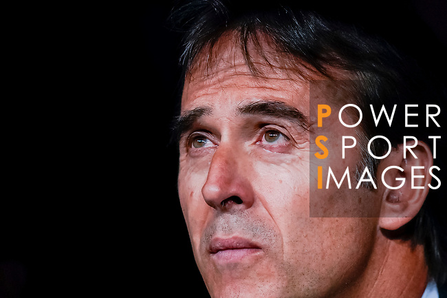 Manager Julen Lopetegui of Real Madrid reacts prior to the UEFA Champions League 2018-19 match between Real Madrid and Roma at Estadio Santiago Bernabeu on September 19 2018 in Madrid, Spain. Photo by Diego Souto / Power Sport Images