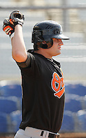 August 1, 2009: Outfielder Lance West (18) of the Bluefield Orioles, rookie Appalachian League affiliate of the Baltimore Orioles in a game at Howard Johnson Field in Johnson City, Tenn. Photo by: Tom Priddy/Four Seam Images