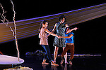 A ELLE(S) SEULE(S)<br /> <br /> Chorégraphie : Jacques Fargearel<br /> Assistante artistique Katharina Bader<br /> Danseuse adulte Isabelle David<br /> Danseurs enfants Mey-Lynn Dichant et Noha Niel Mukania<br /> Conception sonore Aurélien Lucquiaud<br /> Création lumières Bruno Monfeuillard<br /> Scénographie textile et costumes Chantal Rousseau<br /> Compagnie du Sillage<br /> Lieu : Théâtre d'Orly<br /> Ville : Orly<br /> Date : 02/12/2015<br /> © Laurent Paillier / photosdedanse.com