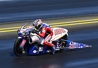 Jul. 28, 2013; Sonoma, CA, USA: NHRA pro stock motorcycle rider Hector Arana Sr during the Sonoma Nationals at Sonoma Raceway. Mandatory Credit: Mark J. Rebilas-
