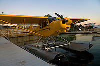 Piper, Super Cub, PA-18-150, N929SC, on floats docked at the Skylark Shores Resort dock, Clear Lake Seaplane Splash-In, Lakeport, Lake County, California