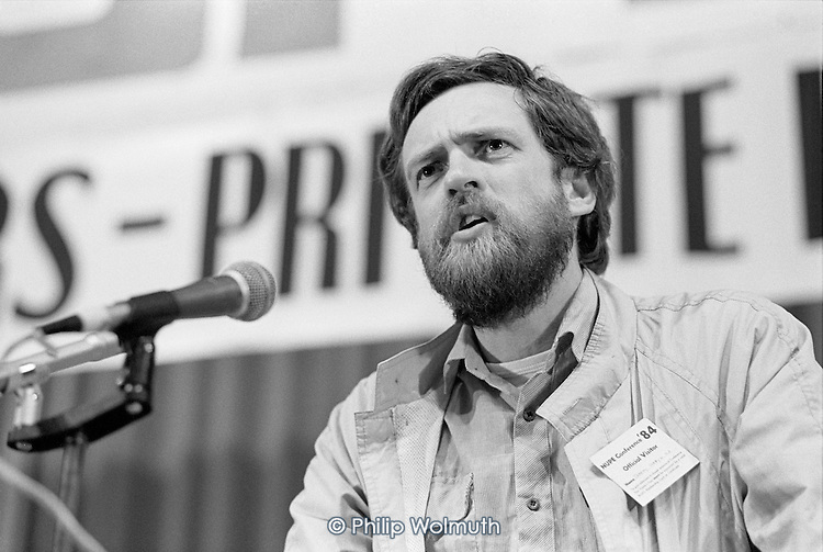 Jeremy Corbyn MP addresses the 1984 NUPE Annual Conference, Bournemouth