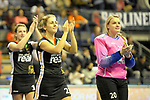 Berlin, Germany, February 09: During the FIH Indoor Hockey World Cup Pool B group match between Germany (black) and Australia (yellow) on February 9, 2018 at Max-Schmeling-Halle in Berlin, Germany. Final score 2-2. (Photo by Dirk Markgraf / www.265-images.com) *** Local caption *** Marie MAEVERS #23 of Germany