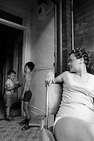 Serie sur les quartier pauvres de Montreal, le 30 juillet 1974 <br /> <br /> Une de ces photos exposee lors de Corridart en 1976 aurait irrite le Maire Drapeau qui a ordonner le demantelement de l'exposition<br /> <br /> Photo : Agence Quebec Presse - Alain Renaud