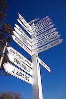 Crossroads signage in wine country - HEALDSBURG, CALIFORINA