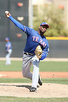 Fabio Castillo, Texas Rangers 2010 minor league spring training..Photo by:  Bill Mitchell/Four Seam Images.