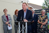 BNPS.co.uk (01202 558833)<br /> Pic: PooleHospital/BNPS<br /> <br /> I'm A Celebrity winner Harry Redknapp has praised the hospital staff who saved his wife's life a year ago.<br /> <br /> The retired football manager made the comments while unveiling a plaque at the new entrance of Poole Hospital in Dorset.<br /> <br /> His wife Sandra, who also attended the ceremony, fell seriously ill after contracting sepsis last year.<br /> <br /> She was rushed to the hospital in an ambulance where she was able to make a full recovery.
