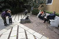 Sculture nei giardini della Peggy Guggenheim Collection a Venezia.<br /> Sculptures in the gardens of Peggy Guggenheim's collection museum in Venice.<br /> UPDATE IMAGES PRESS/Riccardo De Luca