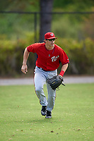 Washington Nationals Alec Keller (18) during practice before a minor league Spring Training game against the Detroit Tigers on March 21, 2016 at Tigertown in Lakeland, Florida.  (Mike Janes/Four Seam Images)