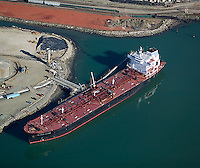 aerial photograph oil tanker Port of Richmond, California