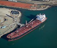 aerial photograph oil tanker Port of Richmond, California