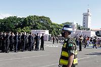 Campinas (SP), 20/02/2021 - Bolsonaro - O presidente Jair Bolsonaro (sem partido) participa, neste sábado (20), da cerimônia de entrada solene dos novos alunos pelo portão da EsPCEx (Escola Preparatória de Cadetes), em Campinas, interior de São Paulo.<br /> De acordo com o EsPCEx, 419 alunos, sendo 382 homens e 37 mulheres, realizarão a primeira formatura com o uniforme camuflado.<br /> Por conta da pandemia, o evento será restrito a familiares e autoridades civis e militares.