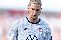 SANDY, UT - JUNE 10: Walker Zimmerman #3 of the United States during a game between Costa Rica and USMNT at Rio Tinto Stadium on June 10, 2021 in Sandy, Utah.