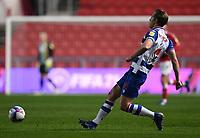 16th February 2021; Ashton Gate Stadium, Bristol, England; English Football League Championship Football, Bristol City versus Reading; Michael Morrison of Reading plays the ball forward