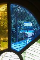 """Europe/Provence-Alpes-Côte d'Azur/83/Var/Saint-Tropez: Hotel-Restaurant """"La Mistralée"""" situé dans la demeure du coiffeur Alexandre- Vue sur la piscine"""