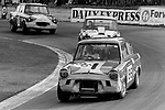 Roger Williamson's Ford Anglia on his way to winning the televised Hepolite Glacier Saloon Car Championship round at Crystal Palace in October 1970, Roger subsequently went on to make his Grand Prix debut in 1973 but tragically lost his life at that years Dutch Grand Prix.