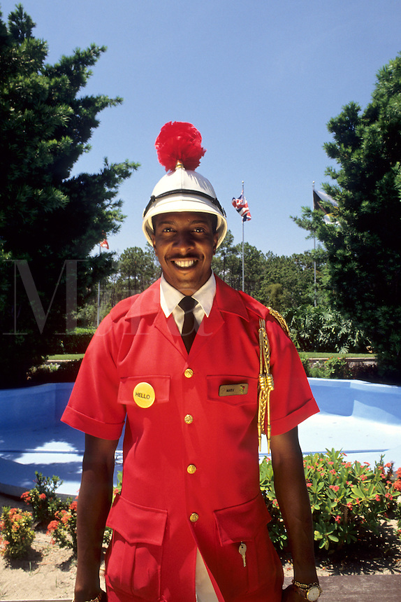 British welcome from Doorman in the Bahamas, Caribbean