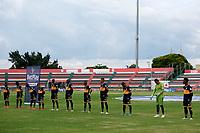 TULUA-COLOMBIA, 20-09-2020: Boca Juniors de Cali y Real Cartagena, durante partido por la fecha 9 del Torneo BetPlay DIMAYOR I 2020 en el estadio Doce de Octubre de la ciudad de Tulua. / Boca Juniors de Cali and Real Cartagena, during a match for the 9th  date of the BetPlay DIMAYOR I 2020 tournament at the Doce de Octubre de stadium in Tulua city. / Photo: VizzorImage / Juan Jose Horta / Cont.