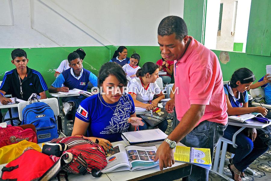 Sala da aula na Escola Estadual de Ensino Medio EEPAC.  Joao Pessoa. Paraiba. 2015. Foto de Kleide Teixeira.