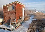 Waterfront shed in Old Town Yellowknife