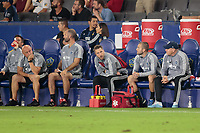 CARSON, CA - SEPTEMBER 15: Sporting Kansas City bench during a game between Sporting Kansas City and Los Angeles Galaxy at Dignity Health Sports Complex on September 15, 2019 in Carson, California.