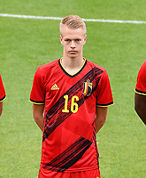 Arthur Vermeeren (16) of Belgium pictured in action during a soccer game between the national teams Under17 Youth teams of  Norway and Belgium on day 3 in the Qualifying round in group 3 on Tuesday 12 th of October 2020  in Tubize , Belgium . PHOTO SPORTPIX | DAVID CATRY