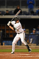 Vanderbilt Commodores infielder Tyler Campbell (2) at bat during a game against the Indiana State Sycamores on February 20, 2015 at Charlotte Sports Park in Port Charlotte, Florida.  Vanderbilt defeated Indiana State 3-2.  (Mike Janes/Four Seam Images)