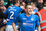 St Johnstone v Dundee United....17.05.14   William Hill Scottish Cup Final<br /> James Dunne shows his delight after saints took a 2-0 lead through Steven MacLean's goal<br /> Picture by Graeme Hart.<br /> Copyright Perthshire Picture Agency<br /> Tel: 01738 623350  Mobile: 07990 594431