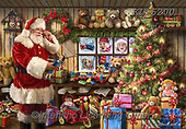 Interlitho-Marcello, CHRISTMAS SANTA, SNOWMAN, WEIHNACHTSMÄNNER, SCHNEEMÄNNER, PAPÁ NOEL, MUÑECOS DE NIEVE, paintings+++++,santa,toys,kids,workshop,KL6200,#x# ,puzzle,puzzels ,puzzle,puzzles