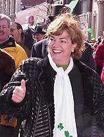 Defile de la  St-Patrick le 14 Mars 1999 - Sheila Copps<br /> <br /> 1999 St-Patrick Day Parade in Montreal, CANADA<br /> <br /> PHOTO : Agence Quebec Presse - Pierre Roussel