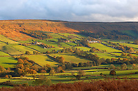 Danby Dale looking towards Botton village,  North Yorkshire Moors National Park, England.