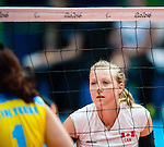 Jolan Wong, Rio 2016 - Sitting Volleyball // Volleyball assis.<br /> Canada competes against Ukraine in the Women's Sitting Volleyball Preliminary // Le Canada affronte l'Ukraine dans le tournoi préliminaire de volleyball assis féminin. 13/09/2016.