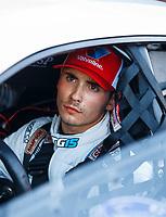 Sep 15, 2017; Concord, NC, USA; NHRA pro stock driver Tanner Gray during qualifying for the Carolina Nationals at zMax Dragway. Mandatory Credit: Mark J. Rebilas-USA TODAY Sports