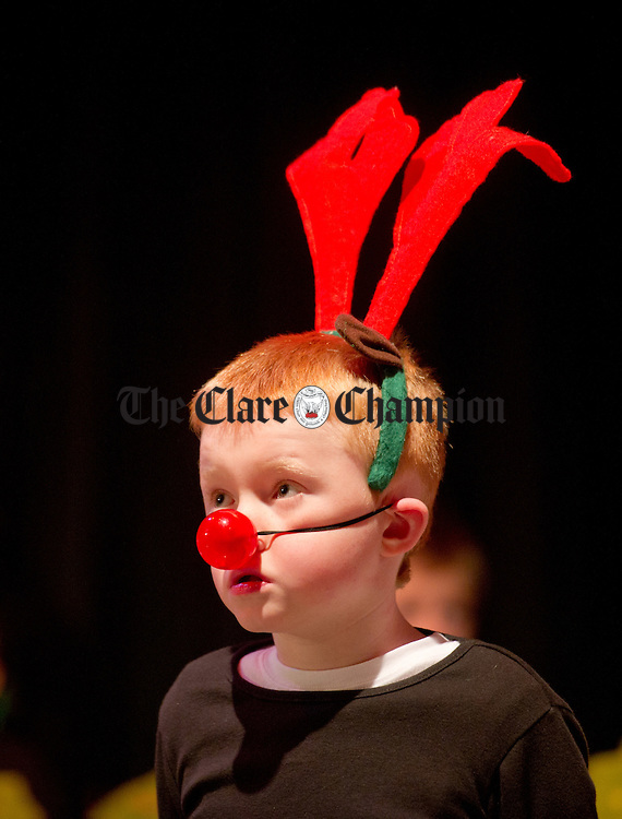 Adam Mc Inerney during the annual Christmas show at St Senan's national school in Kilrush. Photograph by John Kelly.