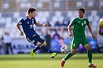 Sakai Hiroki of Japan (L) in action during the AFC Asian Cup UAE 2019 Group F match between Japan (JPN) and Turkmenistan (TKM) at Al Nahyan Stadium on 09 January 2019 in Abu Dhabi, United Arab Emirates. Photo by Marcio Rodrigo Machado / Power Sport Images