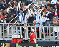 Fans of the Chicago Red Stars during a WPS match against the Washington Freedom at Maryland Soccerplex on April 11 2009, in Boyd's, Maryland.  The game ended in a 1-1 tie.