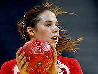 BELGRADE, SERBIA - DECEMBER 15:  Louise Burgaard of Denmark in action during the Women's European Handball Championship 2012 fifth place match between Denmark and Russia at Arena Hall on December 15, 2012 in Belgrade, Serbia. (Photo by Srdjan Stevanovic/Getty Images)
