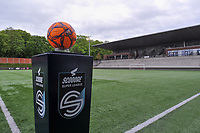 matchball pictured before a female soccer game between RSC Anderlecht Dames and AA Gent Ladies on the fifth matchday of play off 1 of the 2020 - 2021 season of Belgian Womens Super League , saturday 8 th of May 2021  in Brussels , Belgium . PHOTO SPORTPIX.BE | SPP | STIJN AUDOOREN