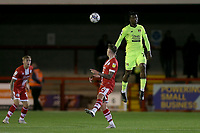 Shadrach Ogie of Leyton Orient and James Tilley of Crawley Town during Crawley Town vs Leyton Orient, Papa John's Trophy Football at The People's Pension Stadium on 5th October 2021