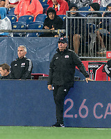 FOXBOROUGH, MA - AUGUST 4: New England Revolution coach Bruce Arena during a game between Nashville SC and New England Revolution at Gillette Stadium on August 4, 2021 in Foxborough, Massachusetts.