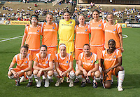 03 May 2009:  Sky Blue FC Starting XI pose together for group photos before the game against FC Gold Pride at Buck Shaw Stadium in Santa Clara, California.   FC Gold Pride defeated Sky Blue FC, 1-0.