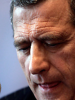 Il presidente di Air France-Klm Jean-Cyril Spinetta tiene una conferenza stampa a Roma, 19 marzo 2008, sulle trattative per l'acquisto di Alitalia..President of France-Klm Jean-Cyril Spinetta attends a press conference in Rome, 19 march 2008, on negotiations for Alitalia's takeover.. UPDATE IMAGES PRESS/Riccardo De Luca