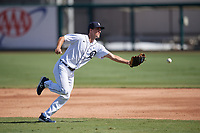 Detroit Tigers second baseman Andre Lipcius (41) during practice before a Florida Instructional League intrasquad game on October 24, 2020 at Joker Marchant Stadium in Lakeland, Florida.  (Mike Janes/Four Seam Images)