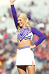 December 30, 2016: A TCU cheerleader performing at halftime of the AutoZone Liberty Bowl inside Liberty Bowl Memorial Stadium in Memphis, Tennessee. ©Justin Manning/Eclipse Sportswire/Cal Sport Media