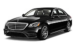 2018 Mercedes Benz S-Class 450 4 Door Sedan Angular Front stock photos of front three quarter view
