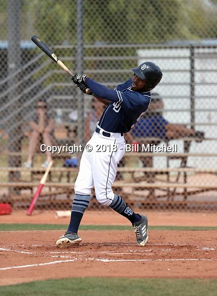 Buddy Reed - San Diego Padres 2018 spring training (Bill Mitchell)