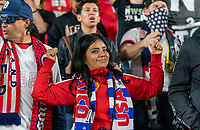 CARSON, CA - FEBRUARY 7: Fans cheer during a game between Mexico and USWNT at Dignity Health Sports Park on February 7, 2020 in Carson, California.