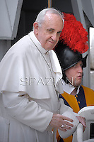 Pope Francis during his weekly general audience in St. Peter square at the Vatican, Wednesday. 1 May 2013
