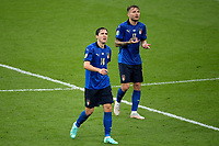 Federico Chiesa of Italy and Ciro Immobile of Italy during the Uefa Euro 2020 Final football match between Italy and England at Wembley stadium in London (England), July 11th, 2021. <br /> Photo Andrea Staccioli / Insidefoto